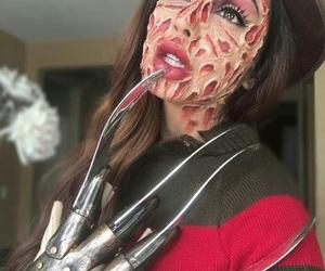 Halloween, makeup, and freddy krueger image