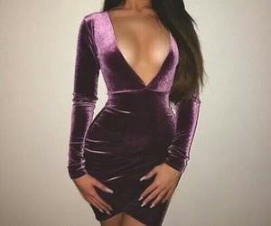 dress, purple, and velvet image