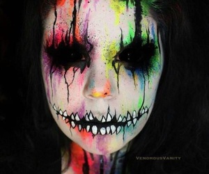 Halloween, makeup, and colors image