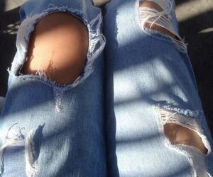 jeans, tumblr, and carefree image