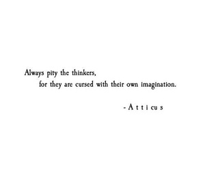 quote, imagination, and atticus image