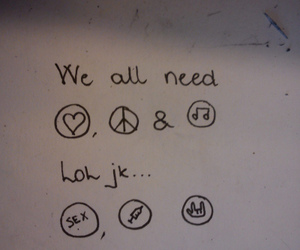 drugs, music, and peace image