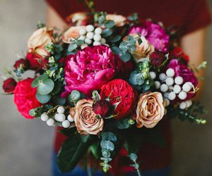bouquet, flower, and rose image