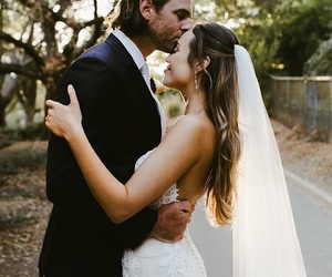 just married, weddings, and forehead kiss image