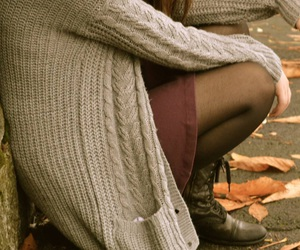 boots, cardigan, and cold image