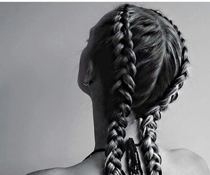 b&w, hair, and hair style image