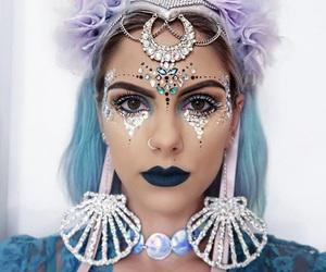 halloween costume, makeup, and ocean image