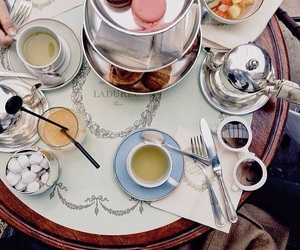 laduree, tea, and breakfast image