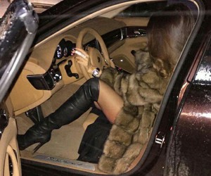 car, luxury, and fur image