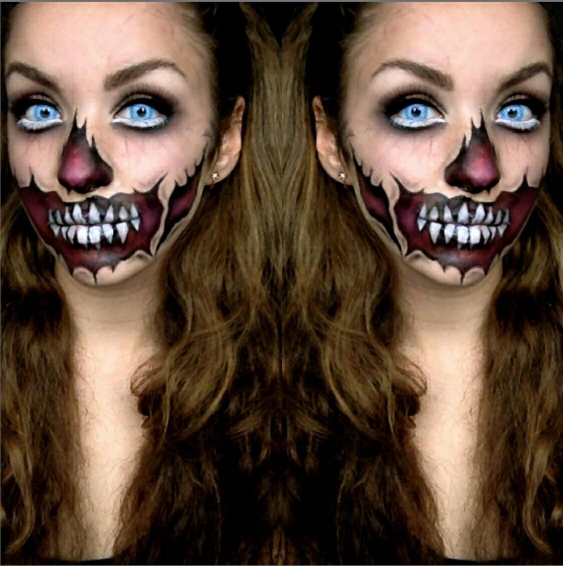 как можно себя разукрасить на хэллоуин фото своеобразный код, одежде