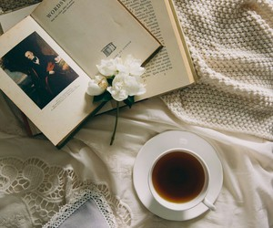 books, sweet, and coffee image