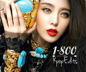 blue eyes, edit, and fan bing bing image