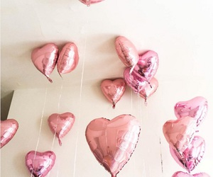 balloons, hearts, and cute image