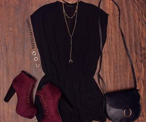 bag, boots, and outfit image