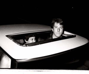 b&w, dustin hoffman, and car image