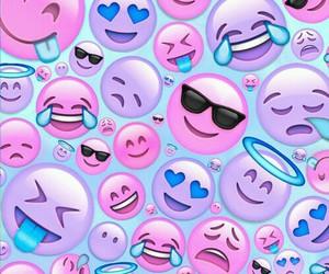emojis, pink, and background image