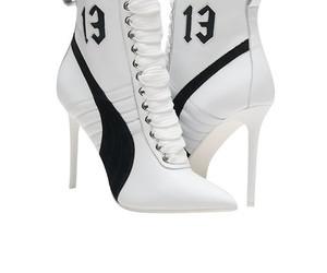 rihanna, white leather, and gorgeous puma high heel image