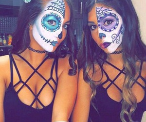 Halloween, makeup, and friends image