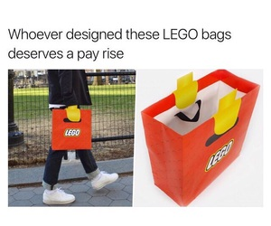 lego, bag, and funny image