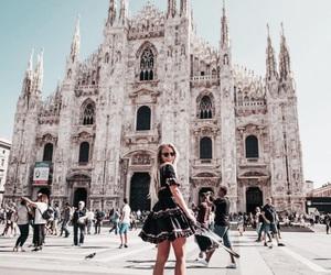 travel, girl, and milan image