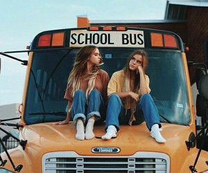 girl, friends, and school image
