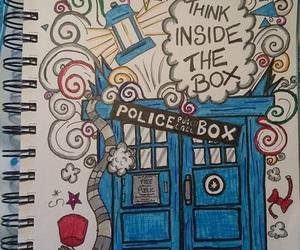 doctor who, drawing, and tardis image