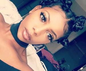girl, makeup, and bantu knots image