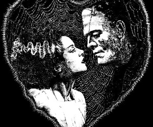 Frankenstein, love, and horror image