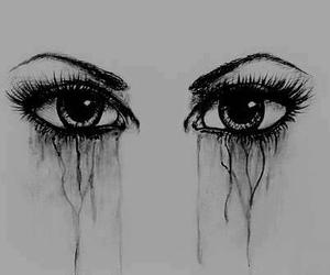 eyes, cry, and drawing image