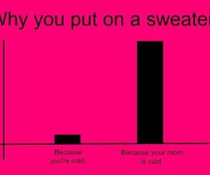 funny, mom, and sweater image