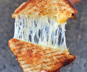 cheese, food, and yum image