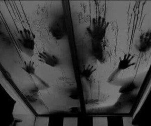 blood, hands, and dark image