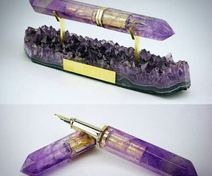 pen, crystal, and funny image