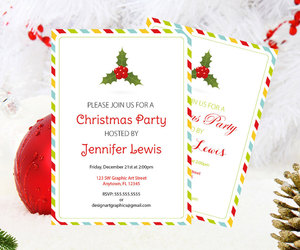 party invitation, christmas invitation, and christmas templates image