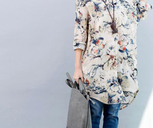 etsy, loose fitting shirt, and cotton shirt image