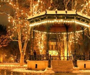 christmas, lights, and zagreb image