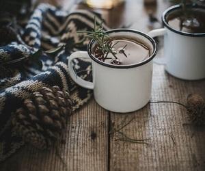 winter, tea, and coffee image