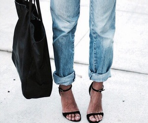 blue, jeans, and shoes image