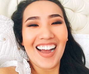 black, smile, and teeth image