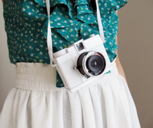 camera, white, and clothes image