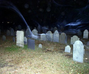 cemetery, dark, and night image