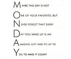 monday, quote, and fashion image