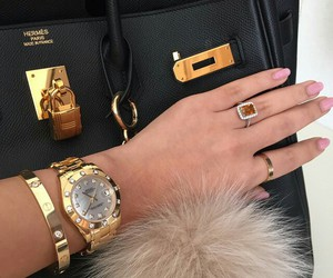 luxury, bag, and gold image