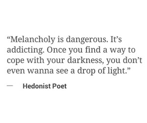 Darkness, lonely, and quotes image