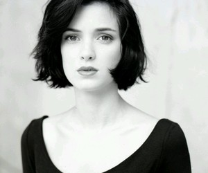 winona ryder, blac&white, and beautuful image