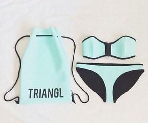 triangl, bikini, and blue image