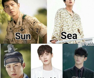 lee min ho, park bo gum, and descendants of the sun image