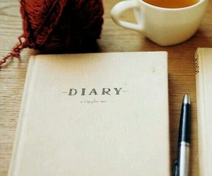 diary, tea, and vintage image