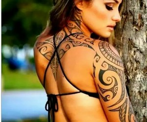 tattoo and woman image