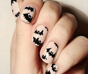 nails, Halloween, and bats image